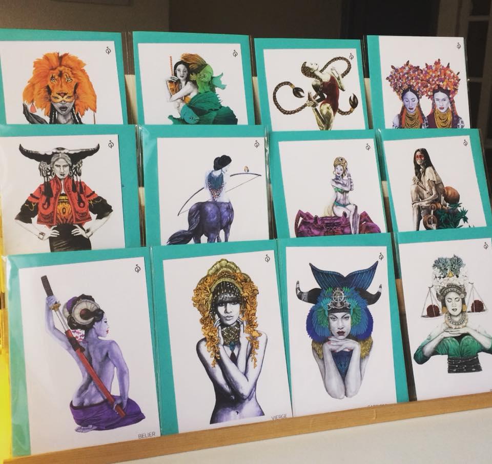 A offrir ou à s'offrir : une collection de cartes magnifiques !!! Le zodiaque dans son intégralité