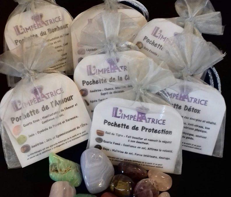 Idée Cadeau Bien-Etre à s'offrir ou à offrir !  Les Pochettes de Minéraux !