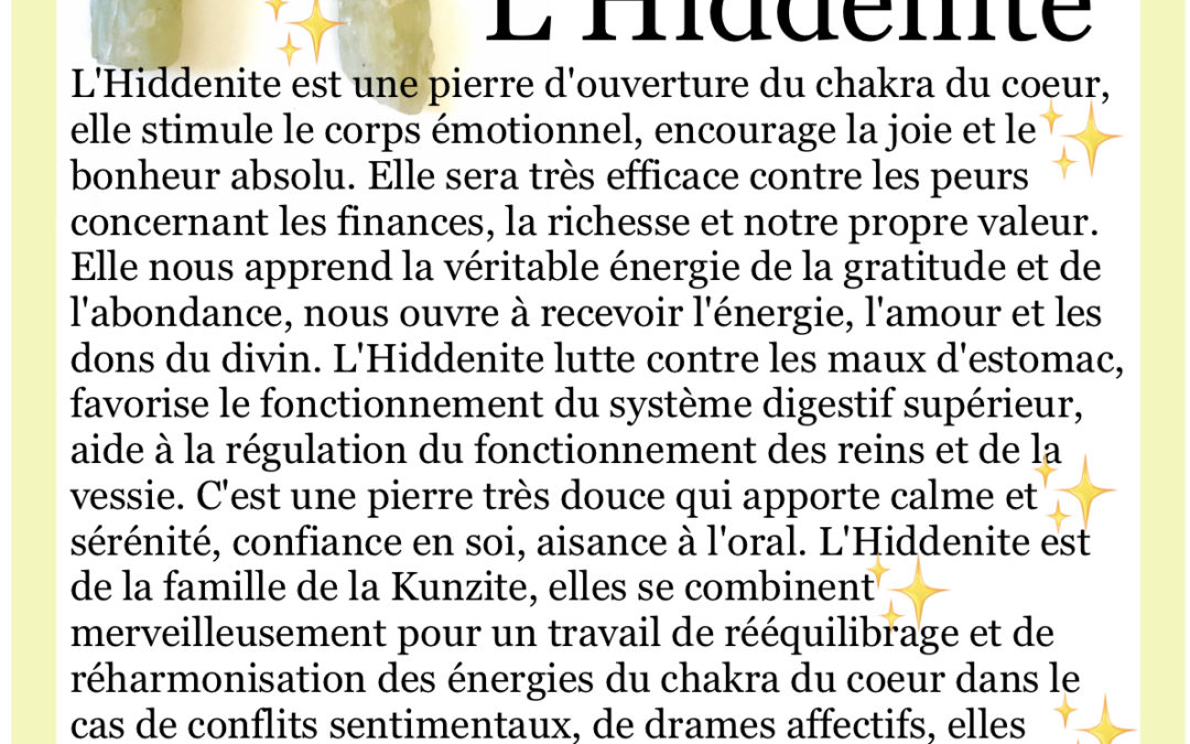 FOCUS sur… l'Hiddenite