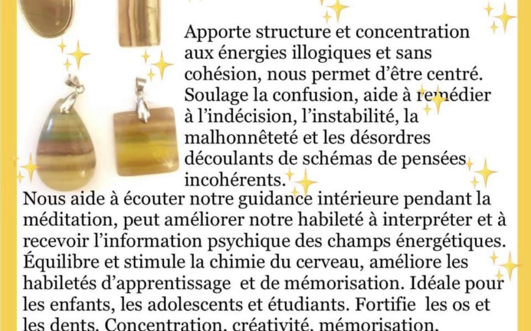 FOCUS sur… la Fluorine ou Fluorite