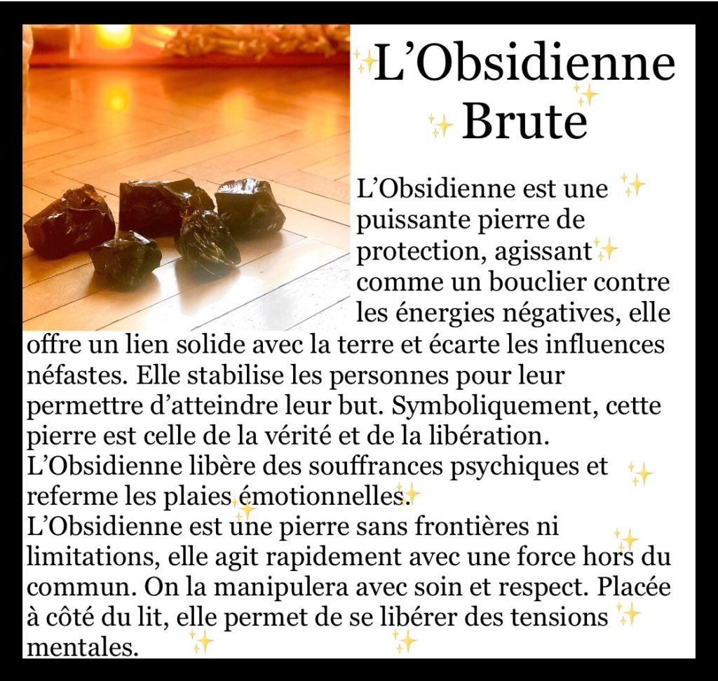 FOCUS sur… l'Obsidienne brute