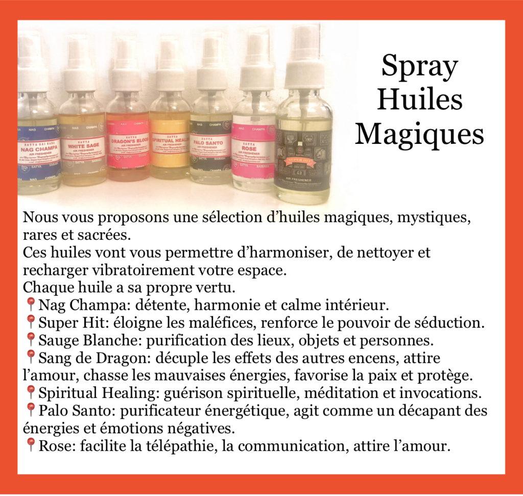 FOCUS sur… les spray Huiles Magiques