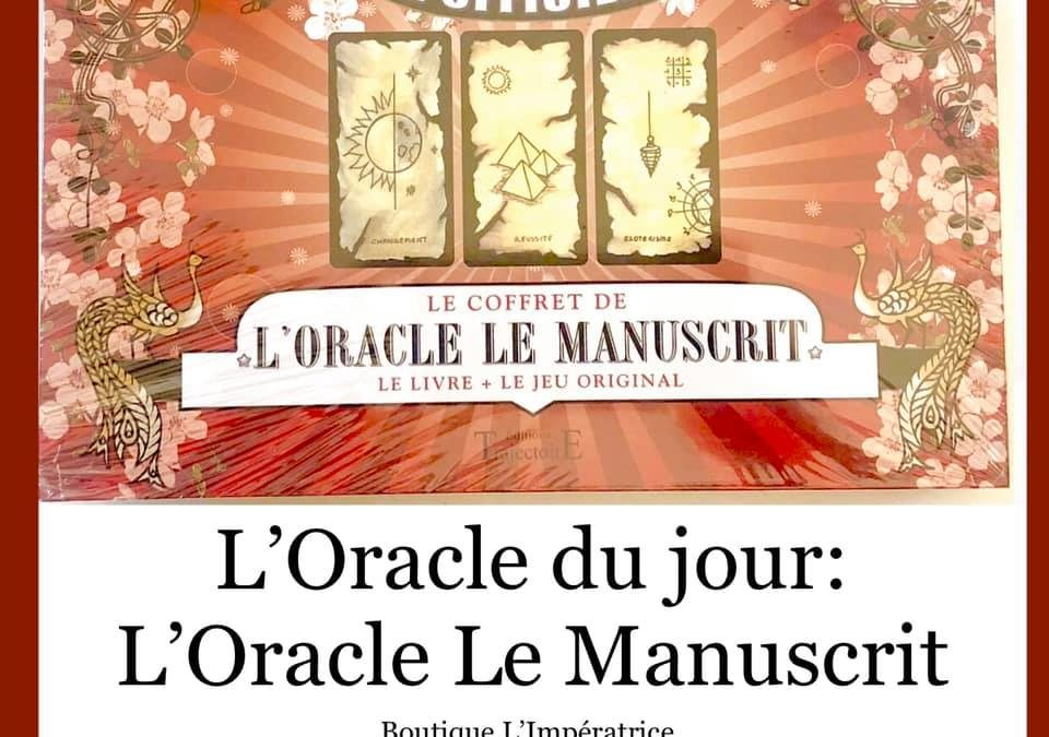 Idée KDO… l'Oracle le Manuscrit