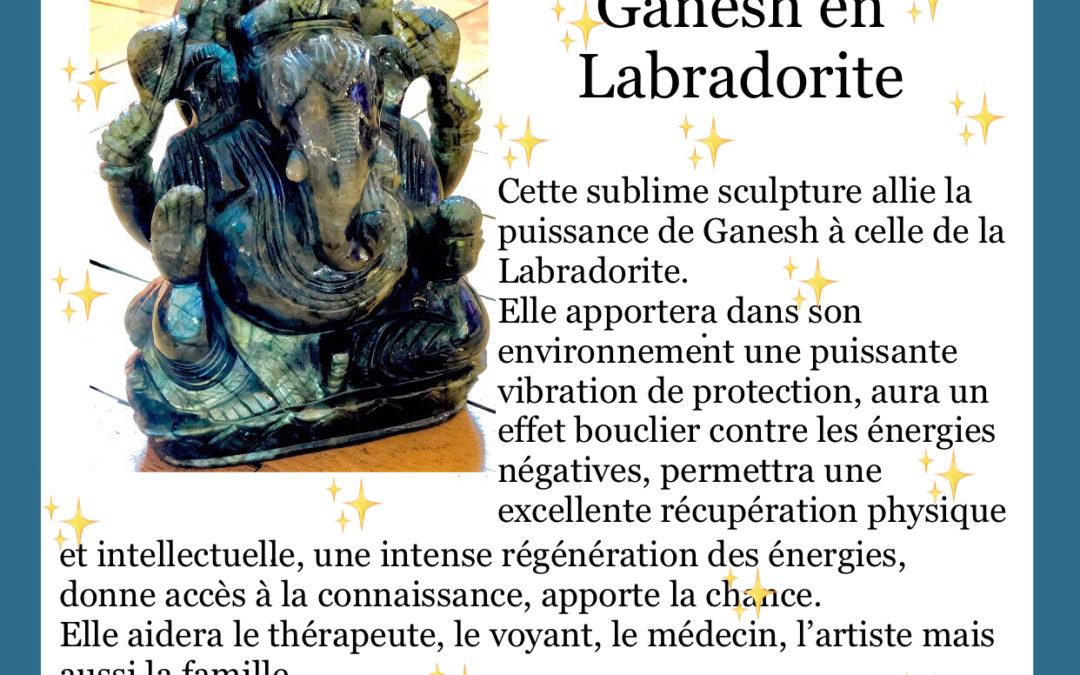 Pièce UNIQUE : Ganesh en Labradorite